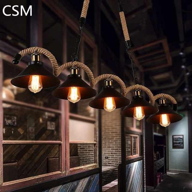 Ретро промышленные Стиль Повседневное кафе личности бар тематический Ресторан Книги по искусству студия творческой шпагат люстры