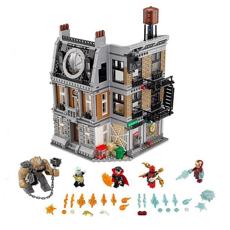 Legoing 76108 1125Pcs Super Heroes The Sanctum Sanctorum Showdown Building Blocks Toys For Children Marvels Figures Gift