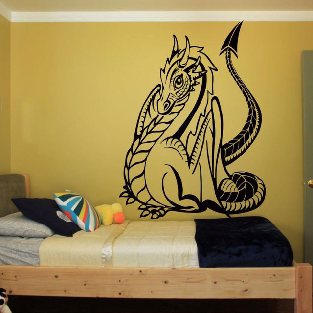 Dragon Home Decoration Wall Paper & Art vinyl removable Sticker ...