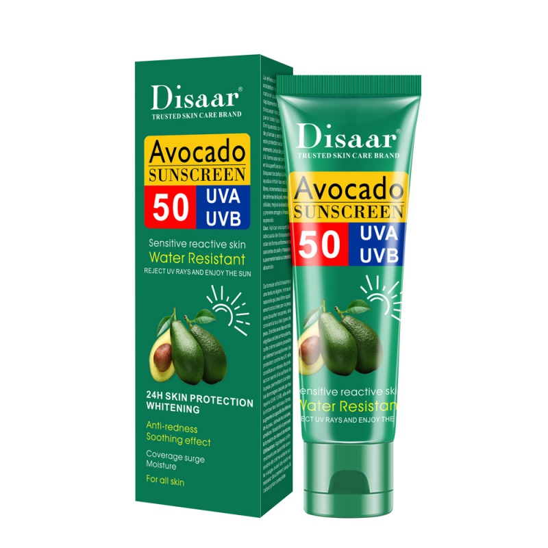 Avocado SPF 50 Sunscreen Moisturizing Cream Sunblock Skin Protective Cream Anti-Aging Oil-control Anti-UV Waterproof Face Skin
