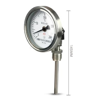 Bimetallic Thermometer Universal Industrial Thermometer for Boiler Pipe Oven Measuring Capacity 0-100 200 300 400 500 600 Degree