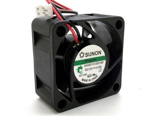 Wholesale SUNON HA401V4-0000-999 40 4cm DC 12V 0.6W 40*40*mm 2-line Ultra Quiet Cooling Fan