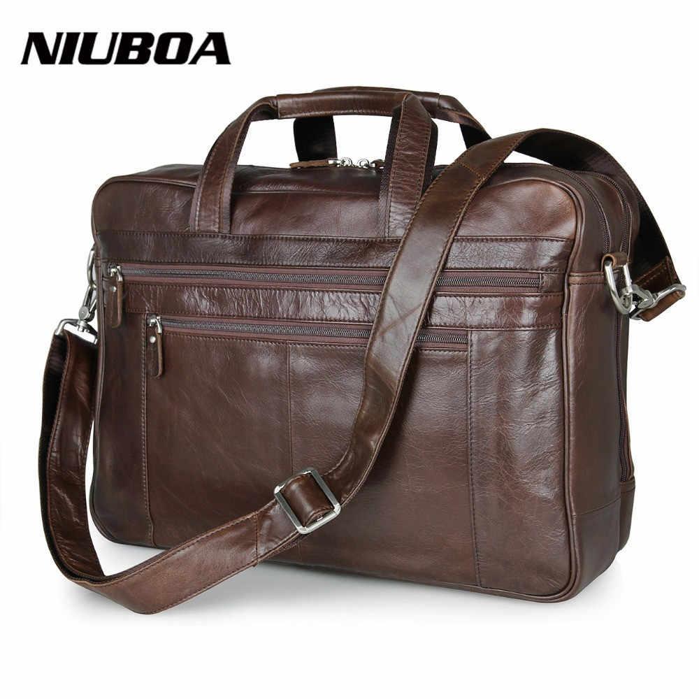 8d2d7cd7b898 100% натуральная кожа сумка высокого качества мужской портфель карманы сумка  из чистой воловьей кожи деловые