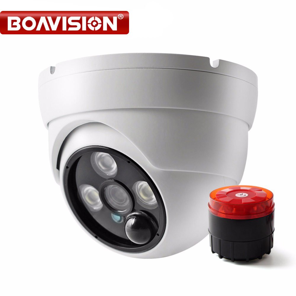 Фотография HD AHD CVI TVI CVBS Security Camera With Alarm Speaker Waterproof IP67 HD 1080P 4 In 1 Dome Camera Outdoor Night Vision IR 20M