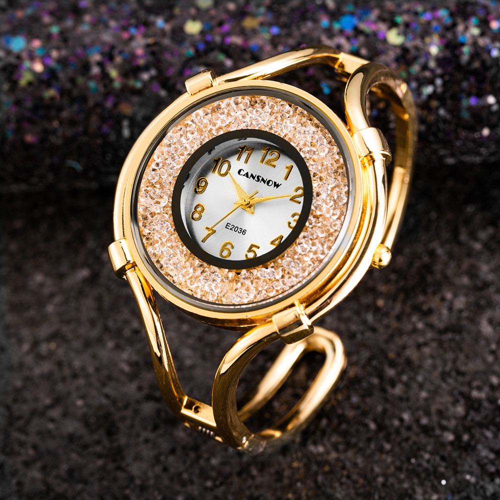 Bayan Kol Saati Top Brand Luxury Gold Women Crystal Watches Fashion Casual Ladies Bangle Bracelet Watch Female Clock Reloj Mujer