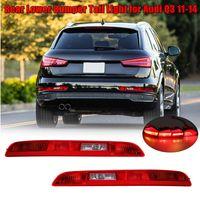 New Left/Right Car Rear Side Lower Bumper Fog Lamps Tail Light Red Reverse Brake Halogen Auto Lower For AUDI Q3 2011~2014