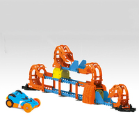 Electric Track 360 Rolling Roller Coaster Thunder High Speed Stereo Change Light Sound Effects Children Interactive Toys Gifts