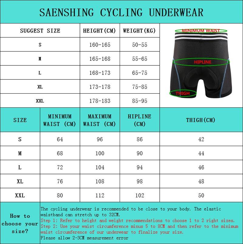 Shorts de ciclismo