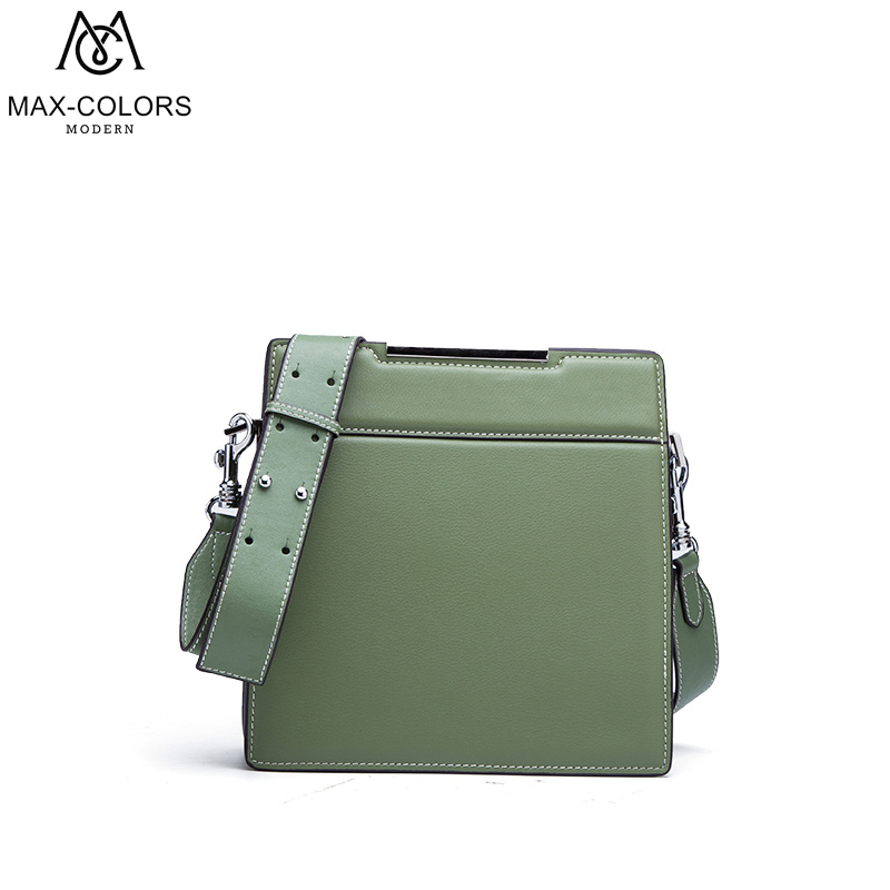 MC Women Bag Split Leather Flap Crossbody Bags Lady Shoulder Bag Original Design Handbags Colorful Evening Bags Brand Tote genuine leather women striped handbags patchwork lady shoulder crossbody bag brand design colorful stripe sling bag random color