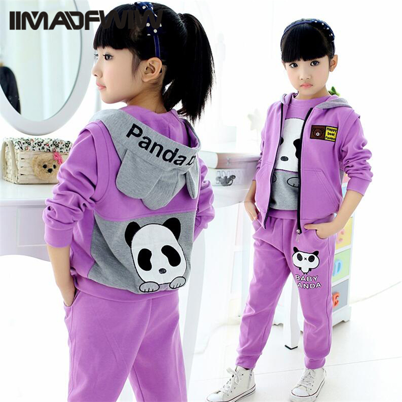 2017 new children's clothing girls spring suit Korean tide children's movement spring and autumn little girl three sets of cloth girls clothing suit spring