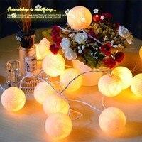 2 м 20 Бежевый led ватный шарик свет 3aa Батарея работает строка Рождество гирляндой банкет Главная партии Свадебные украшения