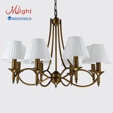 Nuevo diseño europeo dormitorio araña, lámpara de cristal de moda de lujo de Europa