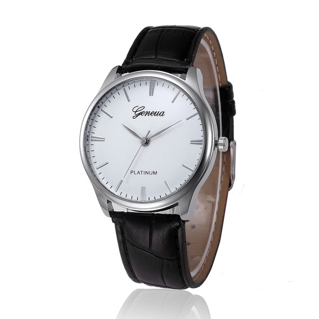 2ca574b7b47 Geneva Simple Style Man Business Watches Casual PU Leather Band Quartz  Wrist Watch relojes hombre Relogio