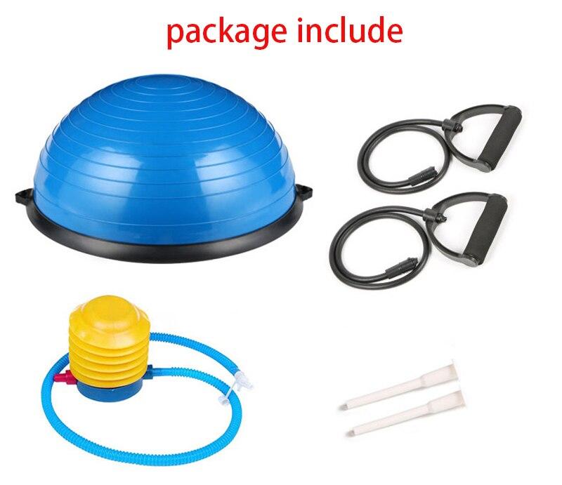 Demi-Yoga balle d'équilibre Gym entraînement balle Pilates demi Yoga balle exercices entraînement Fitball avec cordes et pompe - 5