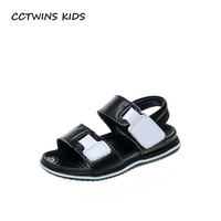 CCTWINS KIDS 2018 Summer Boy Fashion Soft Beach Sandal Toddler Genuine Leather Casual Shoe Baby Brand