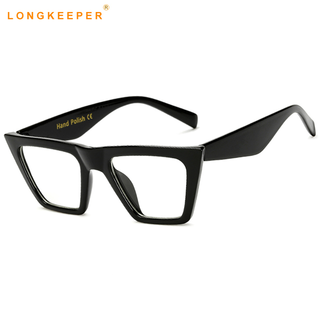 Long Keeper Cat Eye Eye Glasses Frames For Women Brand Designer Men ...