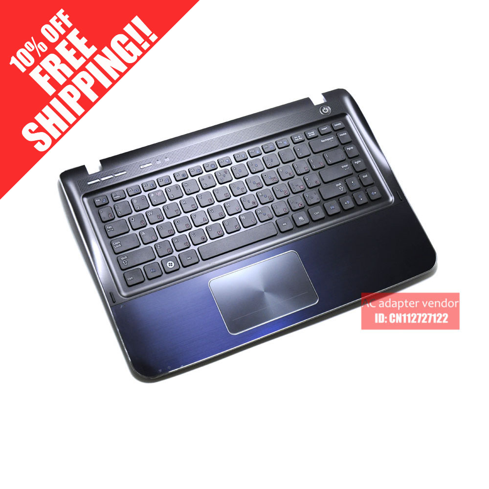 RU Russian FOR Samsung SF411 SF410 laptop keyboard with C shell plamrest kr korean for samsung sf510 laptop keyboard with c shell blue