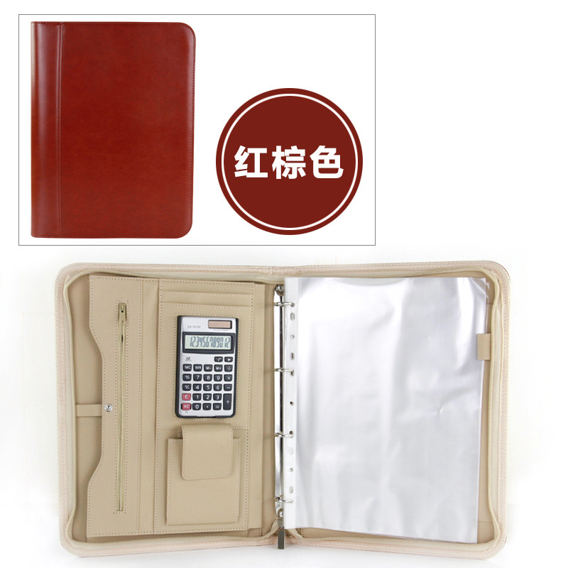Multifuction Business A4 Folder With A Zip Zipped Folder Documents Organizer For Office Men's Document Bag Folders For Paper