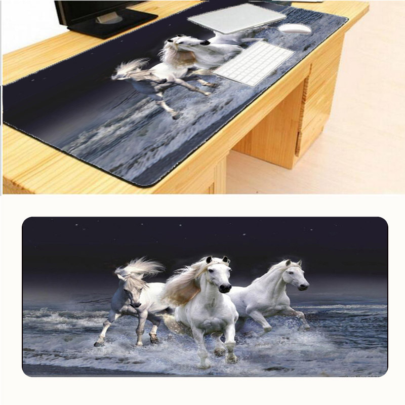 Mairuige Three White Horses Mouse Pad Game Pad To Mouse Notebook Computer Big Size Mouse Mat Gaming Mouse Pads 30x60/70/80/90cm