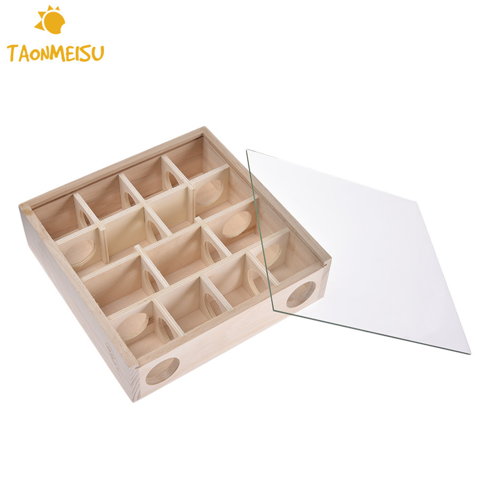 Natural Wood Hamster Pet Maze Tunnel Toy for Pet Dwarf Hamster Gerbil Rat Mouse Small Animal House Cage House Toy Supplies