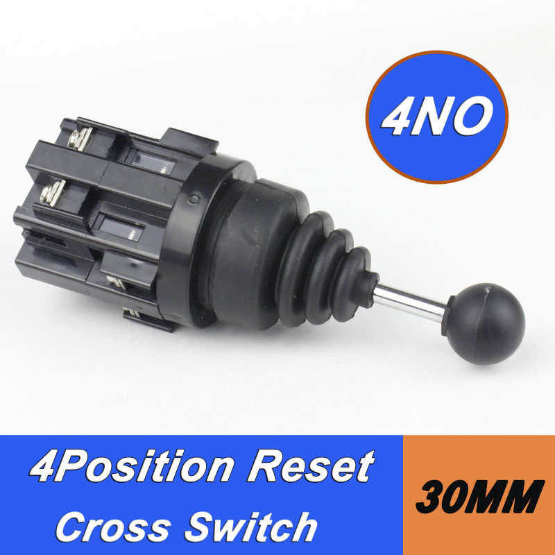 цена на 1pcs Monolever switch 4positions Cross switch returnable or stable joystick switch dia.30mm momentary 4NO