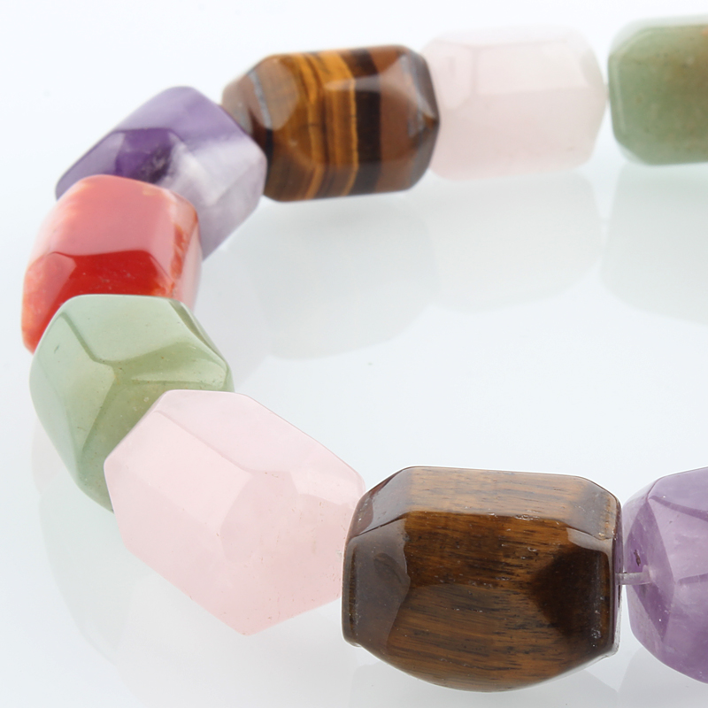 Natural Dyed Tiger Eye Stone Bead Strands Faceted Cuboid 20x15x15mm hole 1mm about 19pcs strand 15