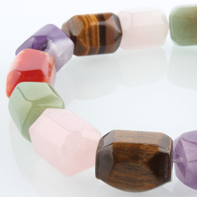 Natural Dyed Tiger Eye Stone Bead Strands, Faceted Cuboid, 20x15x15mm, hole: 1mm; about 19pcs/strand, 15.55″
