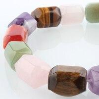 Naturalne Barwione Tiger Eye Kamień Koraliki Pasemka, Prostopadłościan Faceted, 20x15x15mm, otwór: 1mm; o 19 sztuk/strand, 15.55