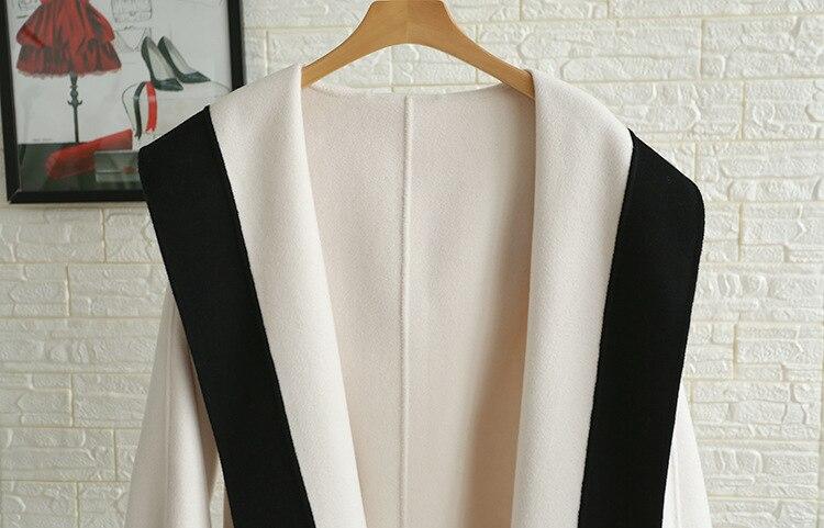 Capuche Femmes Manteau Main Mode Manteaux Haute 100 De Automne Blanc Survêtement La Nouvelle 2018 Noir Hiver Laine À Qualité Designer rpxwnUrTqR