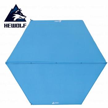 Hewolf Outdoor Camping Mat Hexagon Big Space Automatic Inflatable Picnic Mat Ultrlight Portable High Qualtity Tent Mat Soft Mat