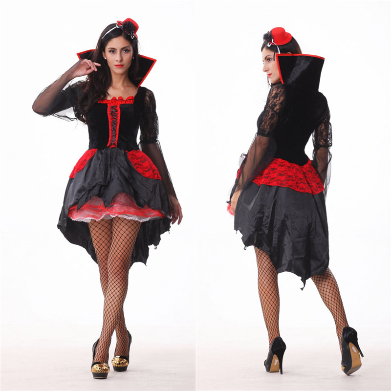 Halloween Sexy V&ire Costume Women Red And Black Cosplay Masquerade Plays V&ire Costumes-in Holidays Costumes from Novelty u0026 Special Use on ...  sc 1 st  AliExpress.com & Halloween Sexy Vampire Costume Women Red And Black Cosplay ...