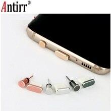Тип C Противопылевой Разъем набор usb type-C порт и 3,5 мм разъем для наушников для samsung Galaxy S8 S9 Plus для huawei P10