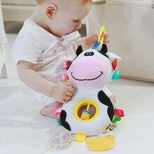 Loozykit 아기 딸랑이 장난감 유모차 매달려 부드러운 장난감 귀여운 동물 인형 아기 어린이 침대 교수형 벨 장난감 s 박제 부드러운 장난감