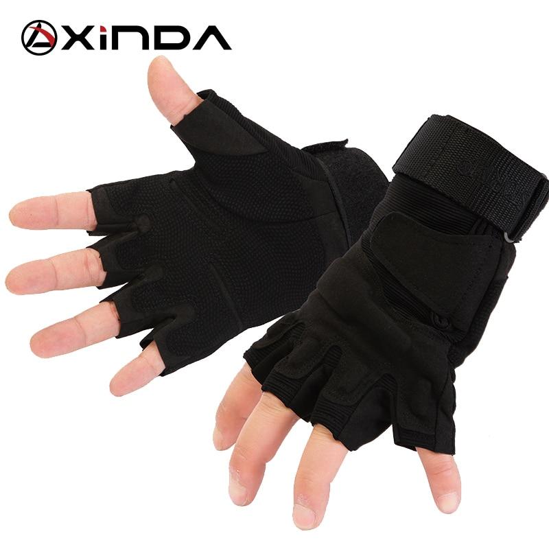 Top Quality XINDA professional Outdoor Sports Half Finger Tatics Gloves Rock <font><b>Climb</b></font> Downhill Hiking Riding Anti Slip gloves