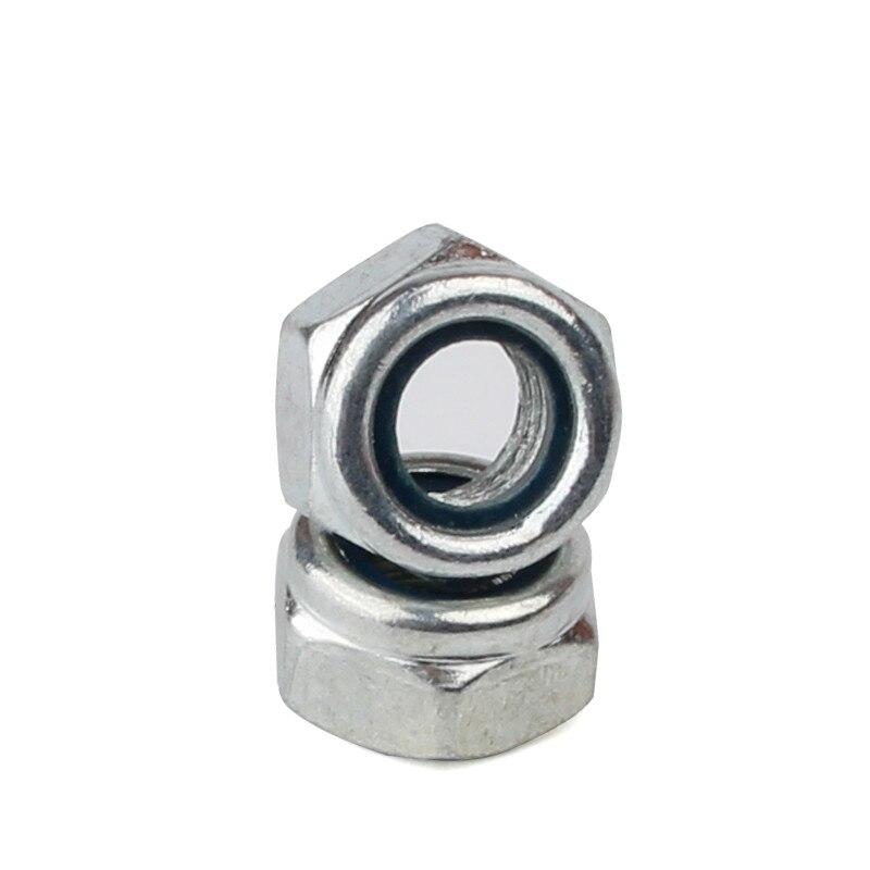 1PCS-M24 DIN985 A2-70 304 Stainless Steel Nylon Nut Lock Nut Self Locking Nut stainless steel spring nutcracker creative nut sheller