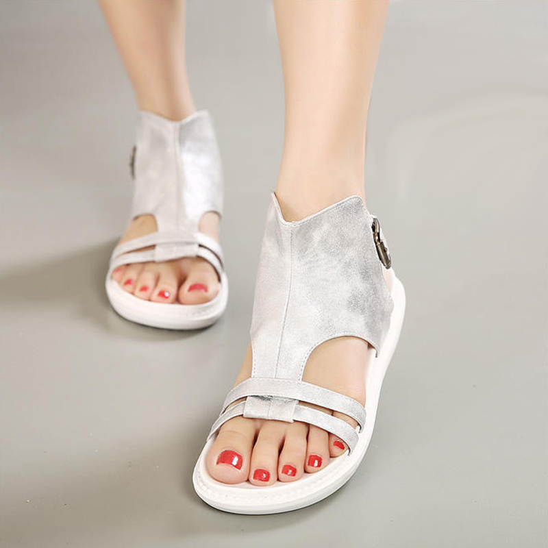 Summer shoes casual Soft bottom Sandals platform 2017 vogue wedges gladiator sandals women Low-heeled sandals phyanic 2017 gladiator sandals gold silver shoes woman summer platform wedges glitters creepers casual women shoes phy3323
