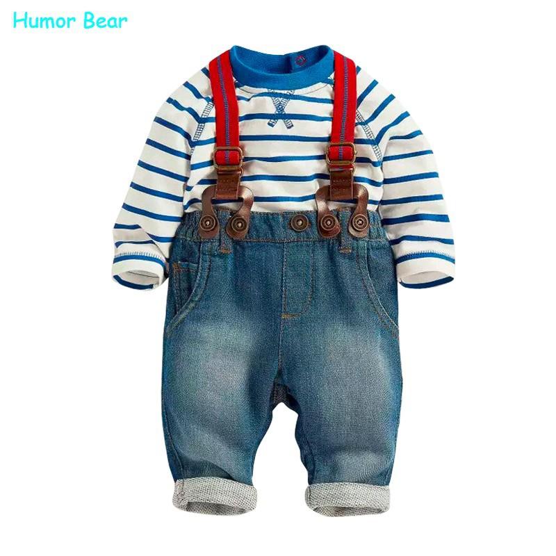 134a28843 Humor Bear baby clothing set cool boys 3pcs suit (t shirt+pant + ...