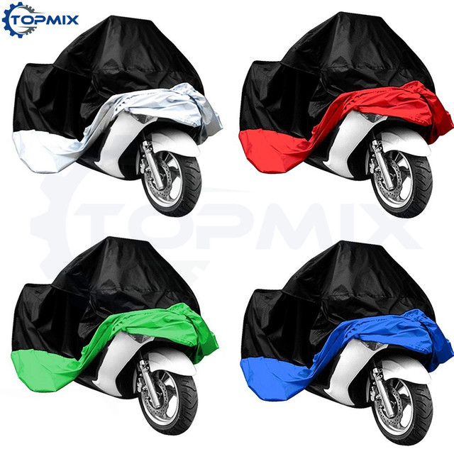L/XL/XXL/XXXL Waterproof Motorcycle Motor Cover Electric Bicycle Rain Coat Dust Protector Black+Silver/Red/Green/Blue