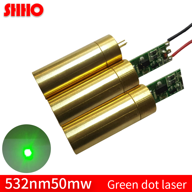 Adjustable focus distance 532nm 50mw green dot laser module long distance laser positioning locator accessories green point
