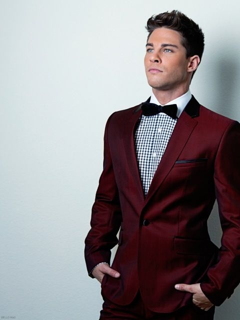 Burgundy Suits for Prom Promotion-Shop for Promotional Burgundy