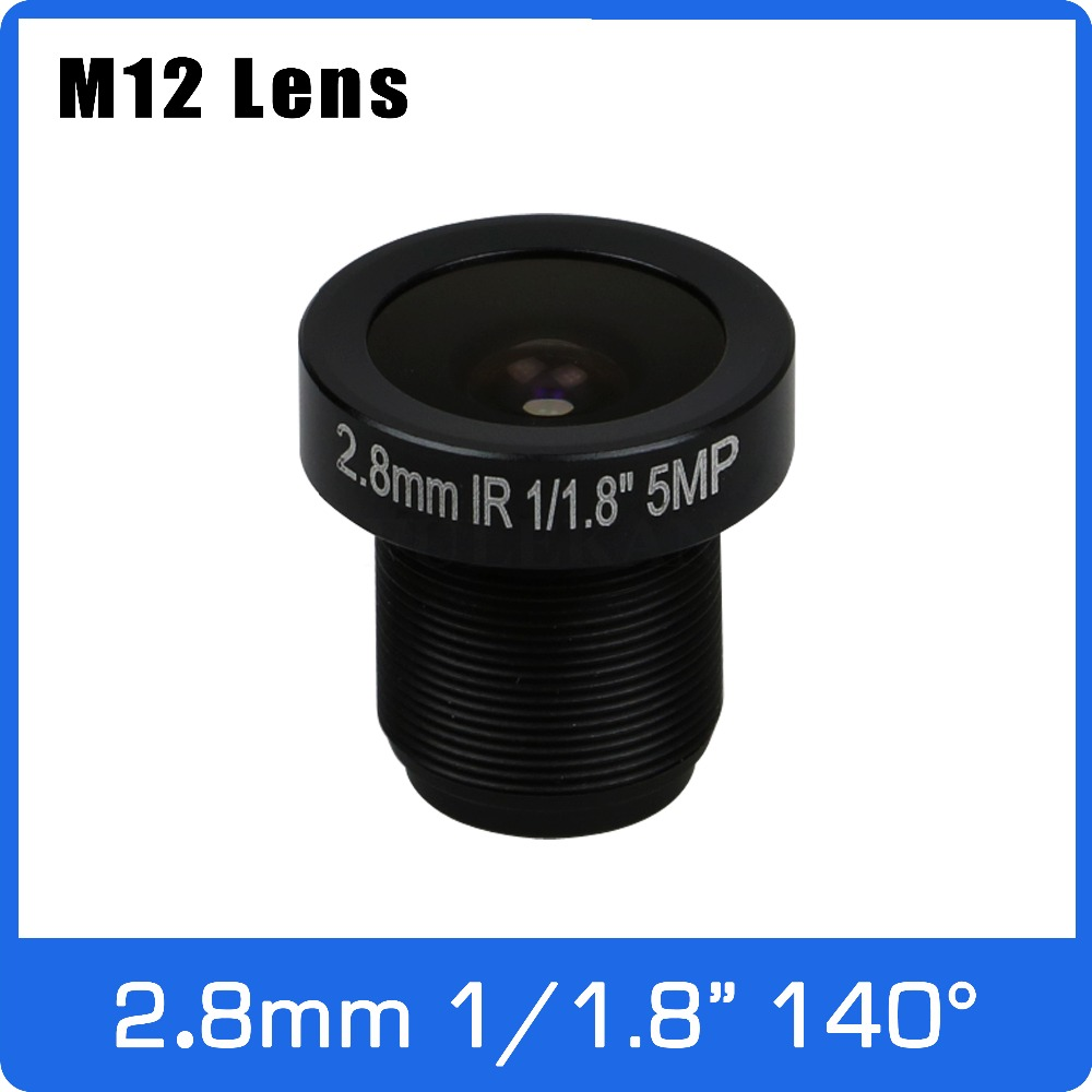 5Megapixel Fixed 1/1.8 Inch 140 Wide Angle Lens 2.8mm For IMX185/IMX385/IMX178 Drone/FPV Camera  CCTV IP Camera Free Shipping