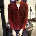 Nueva Moda Para Hombre Chaqueta de Punto Casual V Cuello de Los Hombres Escudo Slim Fit de Punto Hombre Weatwer Más Tamaño Rebeca Masculina XXXL