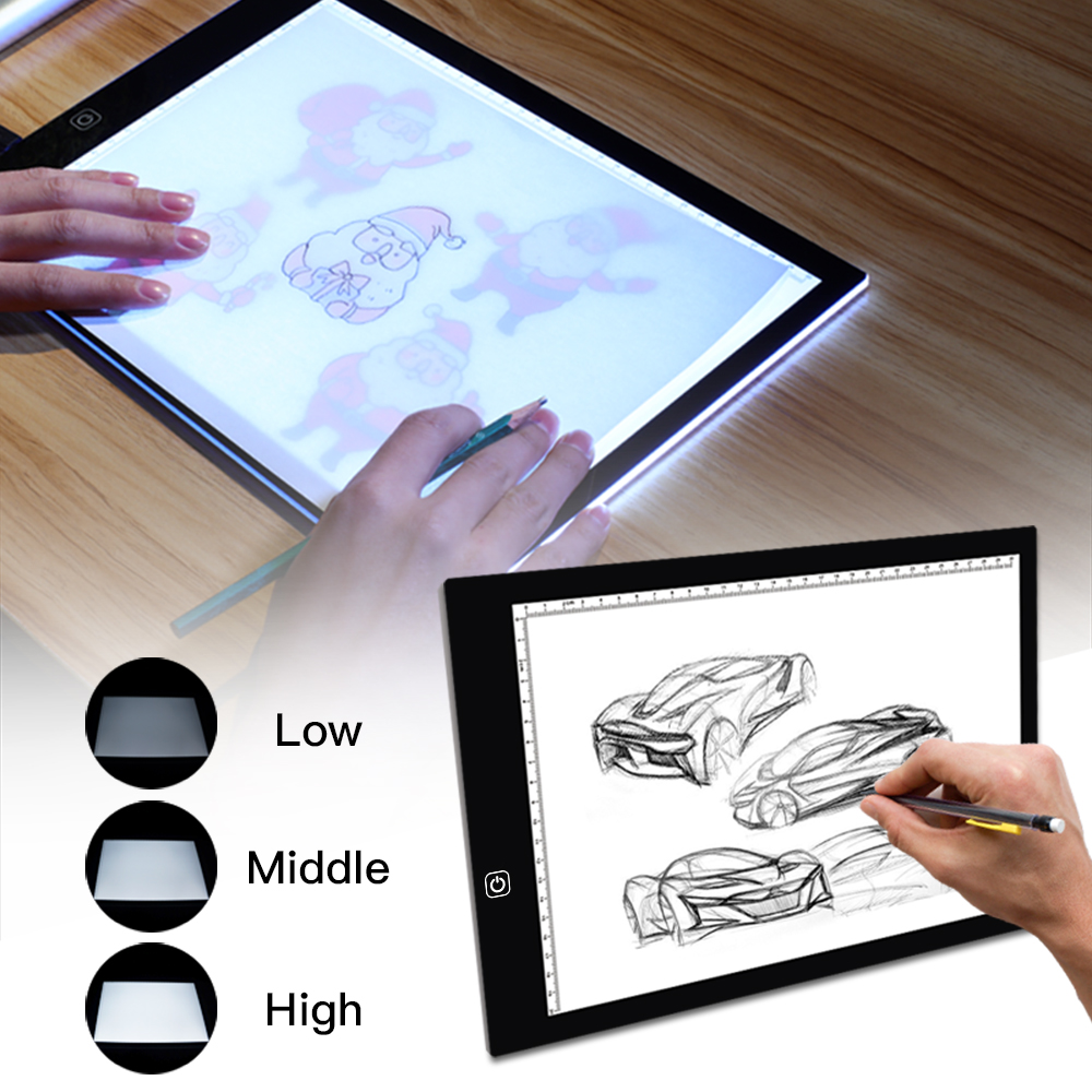 Drawing Tablet A4 Led Graphic Artist Thin Art Stencil Drawing Board Light Box Tracing Table Pad 33.5*23.5cm Orders Are Welcome. Toys & Hobbies