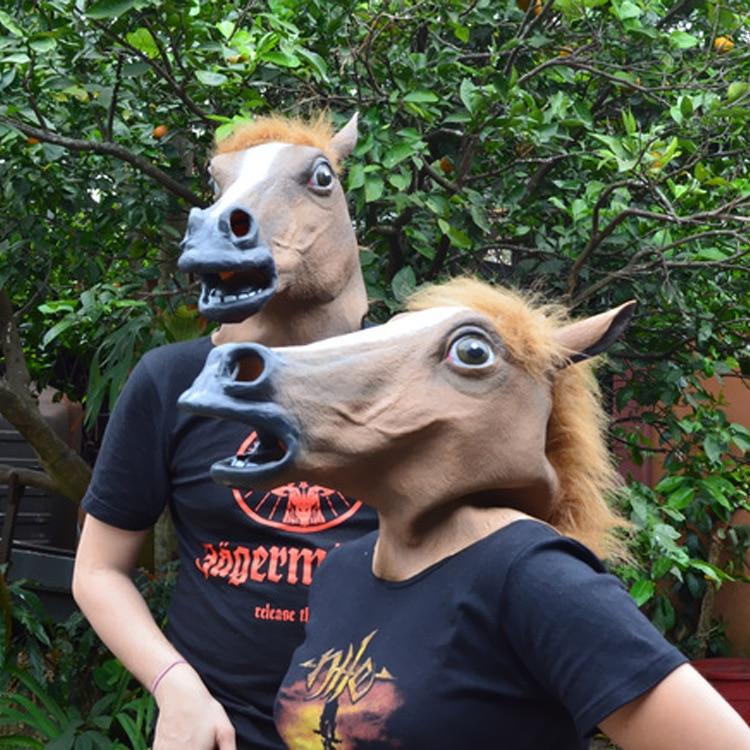 Spot supply Halloween festival COS horse horse mask head set Jiangnan style dog Ma Jun
