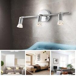 AC90-265V rotatif LED plafonnier avec GU10 LED ampoule Angle réglable vitrine spot salon salle de bain armoire lampe