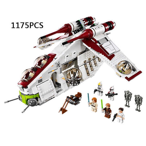 1175pcs star space wars Rogue One Replublic Gunship building block Clone Trooper robot bricks compatible 75021 toys for kid 1pc imperial death trooper rogue one 75156 diy figures star wars superheroes assemble building blocks kids diy toys xmas