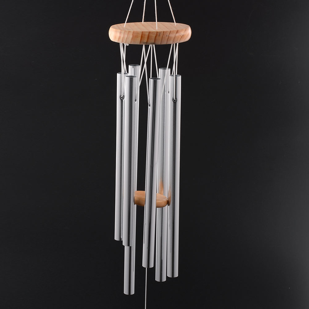 Dolphin Creative Crystal 4 Metal Tubes Windchime Wind Chime Home Decor qw