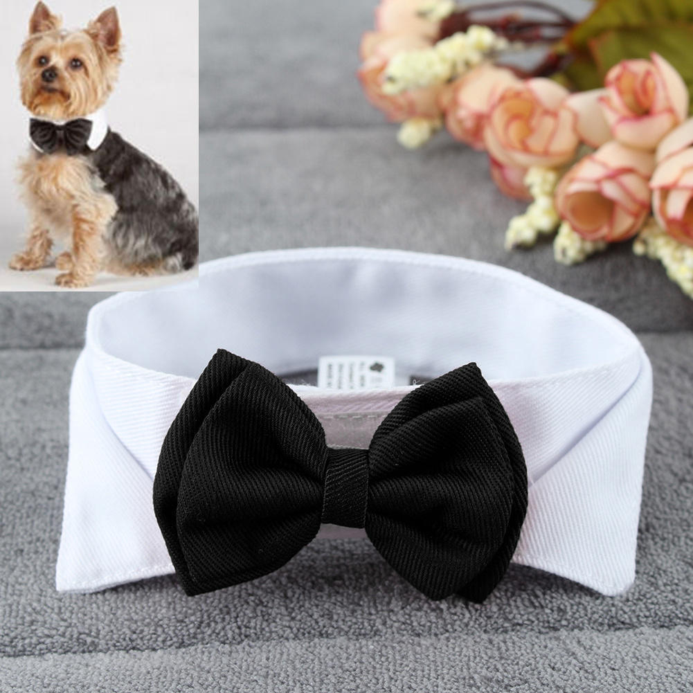 1PC font b Pet b font Puppy Dogs Adjustable Bow Tie Collar Necktie Bowknot Bowtie Holiday