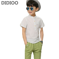 Child Clothes Sets for Boys Gentleman Outfits Kids Plaid Shirts & Pants Suits 10 12 14 15 Years Teenage Boys Blouses Shorts Sets