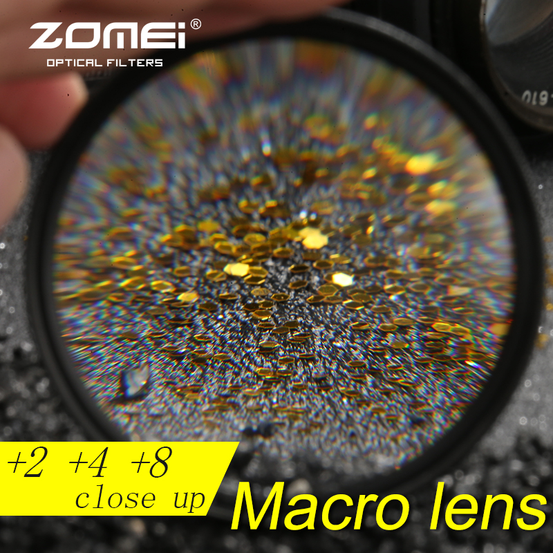 Zomei 40.5mm Close up +2 +4 +8 Macro Filter for Nikon Canon Sony DSLR All 40.5mm 49mm Lens